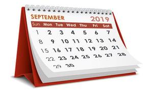 Calendar 2019-September
