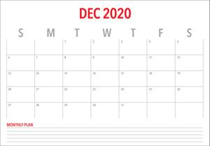 Sales planning for December 2020